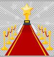 red carpet award vector image vector image