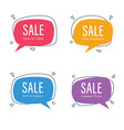 sale speech bubble vector image vector image