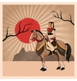 Samurai man cartoon design vector image vector image