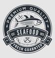 seafood label badge emblem or logo vector image