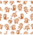 seamless pattern with monkey vector image vector image