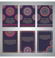 set of flyer templates for business vector image vector image