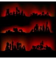 Silhouettes destroyed cities vector image vector image