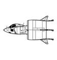 snecma c450 coleoptere vector image vector image