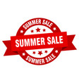 summer sale ribbon summer sale round red sign vector image vector image