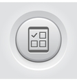 Tablet Check List Icon vector image vector image