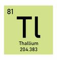 thallium chemical symbol vector image vector image