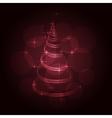The Magic Christmas Tree vector image vector image