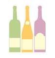 Three bottle of wine vector image vector image
