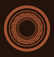 traditional simple meander vector image vector image