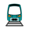 train flat vector image