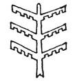 Tree design stem serves as a pillar or beam