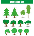 Trees icons flat