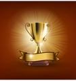trophy vector image vector image