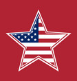 us flag in the shape of a star vector image vector image