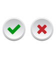 Validation buttons vector image vector image