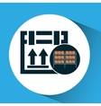 warehouse box fragile icon vector image