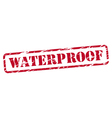 Waterproof rubber stamp vector image vector image