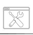 web browser icon design vector image