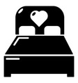 wedding couple bed icon simple style vector image
