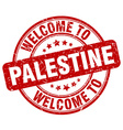 welcome to Palestine vector image vector image