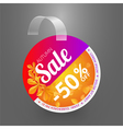 Wobbler design template for autumn sale event vector image vector image