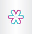 3d flower symbol design vector image