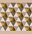 abstract gold and black luxury pattern vector image vector image