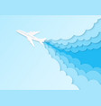 airplane in blue sky flight plane in vector image