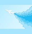 airplane in blue sky flight plane vector image vector image