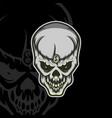angry skull design mascot logo design template vector image