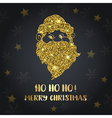 Background with golden Santa Claus vector image vector image