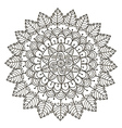 Beautiful Floral mandala vector image vector image