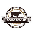 beef cattle logo design vector image
