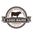 beef cattle logo design vector image