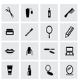 black cosmetics icon set vector image vector image