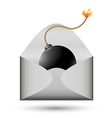 bomb in envelope vector image