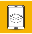 box carton icon design vector image vector image