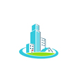 building cityscape construction realty logo vector image