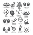 business management icons pack 40 vector image vector image