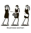 Business women set vector image vector image
