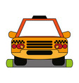 cab flat vector image vector image