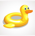 cartoon rescue circle duck vector image
