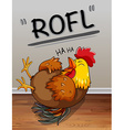 Chicken lauging with text vector image vector image