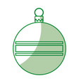 christmas ball isolated icon vector image vector image