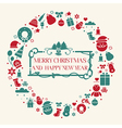 Christmas holiday flat design icons set vector image