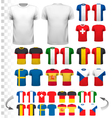 Collection of various soccer jerseys The T-shirt vector image vector image
