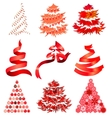 Collecton of stylized Christmas trees vector image vector image