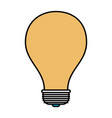 color sections silhouette of light bulb icon vector image vector image
