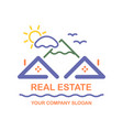Creative logo real estate icon